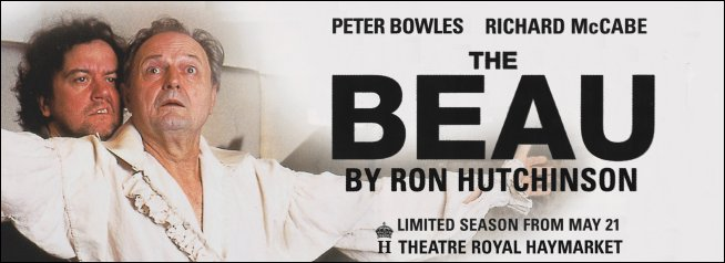 Why London Mccabes Death Matters >> The Beau Ron Hutchinson S New Play About Beau Brummell Starring